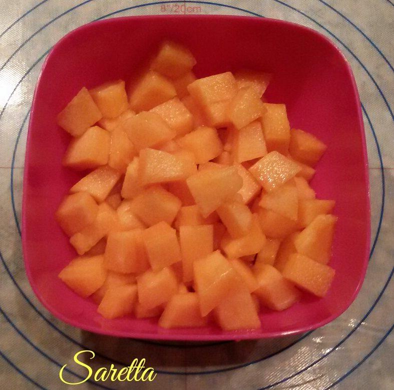 straccetti di pollo con melone al basilico