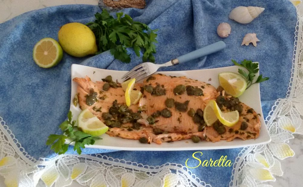 Filetto di trota salmonata ai capperi