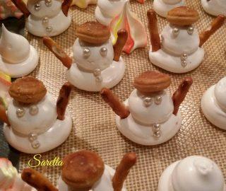 pupazzi di neve di meringa