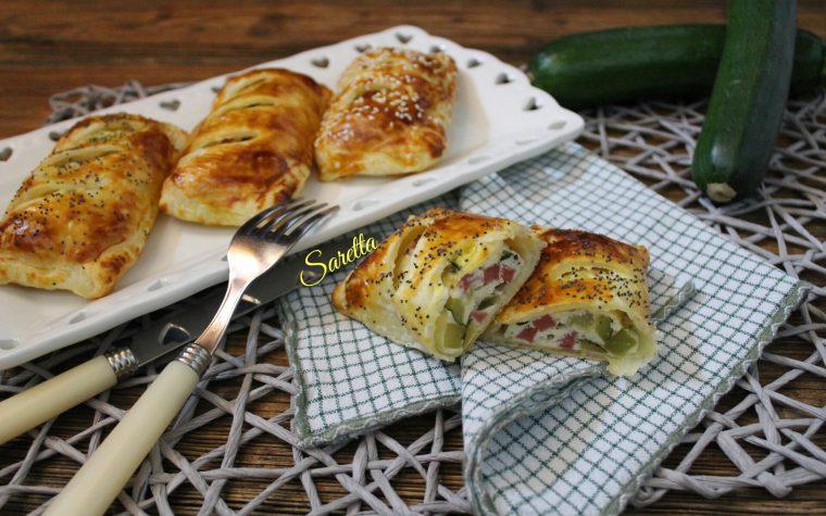 Mini strudel di zucchine e ricotta