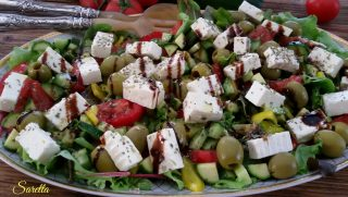 insalata di verdure con feta greca