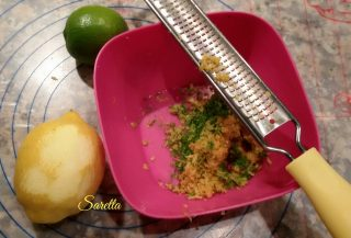 crostata con lime limone e basilico