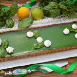 Crostata con lime, limone e basilico