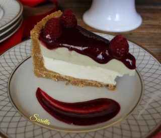 cheesecake panna cotta e lamponi