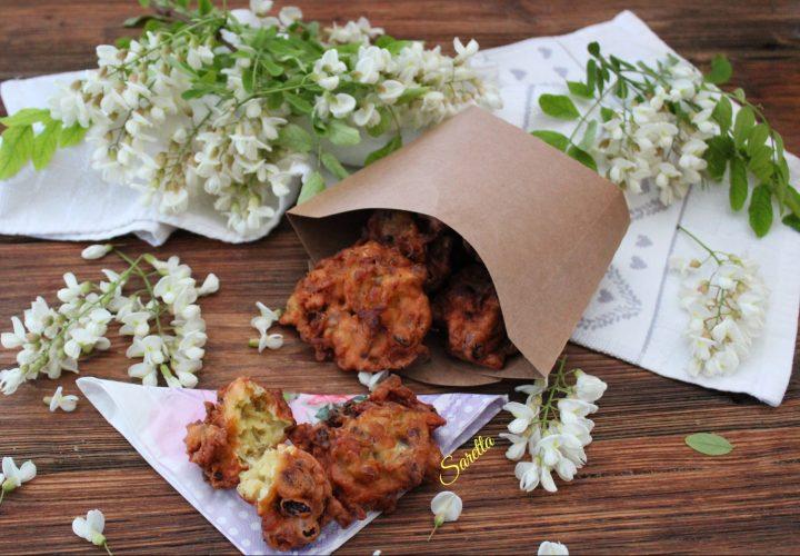 frittelle con i fiori di acacia