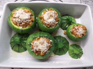 zucchine tonde vegetariane