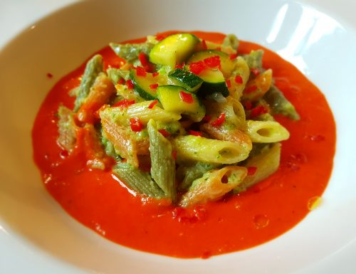 Pennette Tricolore-ricetta vegetariana/vegana