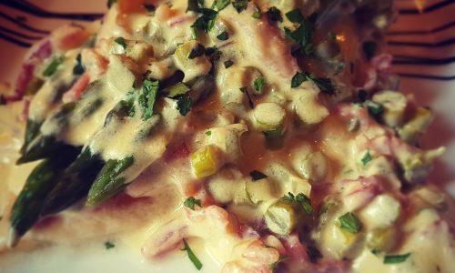 Pollo Asparagi e Bacon con crema