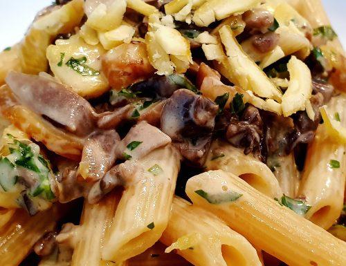 Pasta Castagne e Funghi champignon