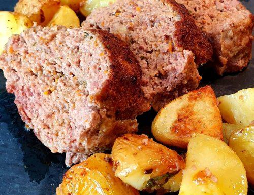 Polpettone con patate al forno alla Romana