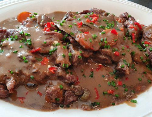 Guancia di Maiale a lunga cottura in salsa.
