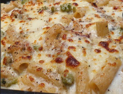 Pasta al Forno alla Romana con broccolo romanesco pancetta e pecorino.
