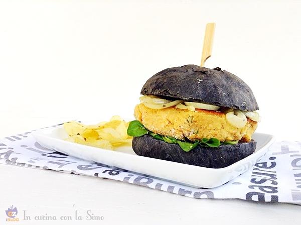 -hamburger nero ai ceci