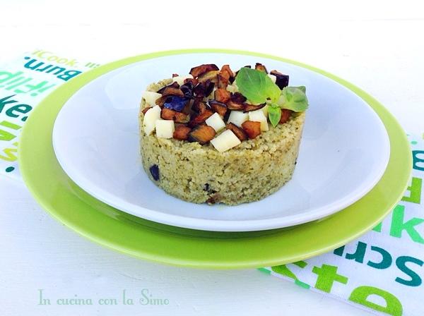 cuscus alle melanzane e pesto