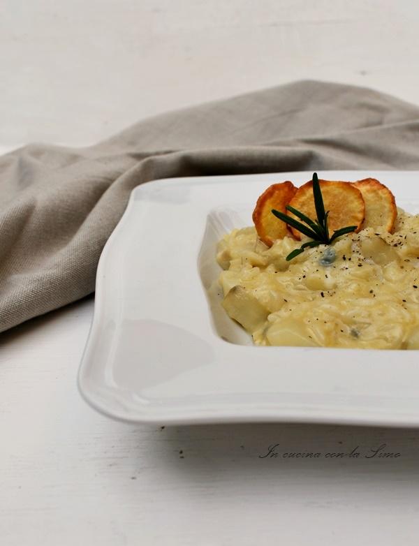 risotto con topinambur e gorgonzola