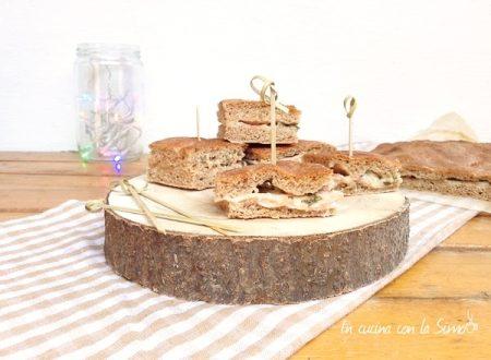 Focaccia Rustica con Porchetta e Gorgonzola