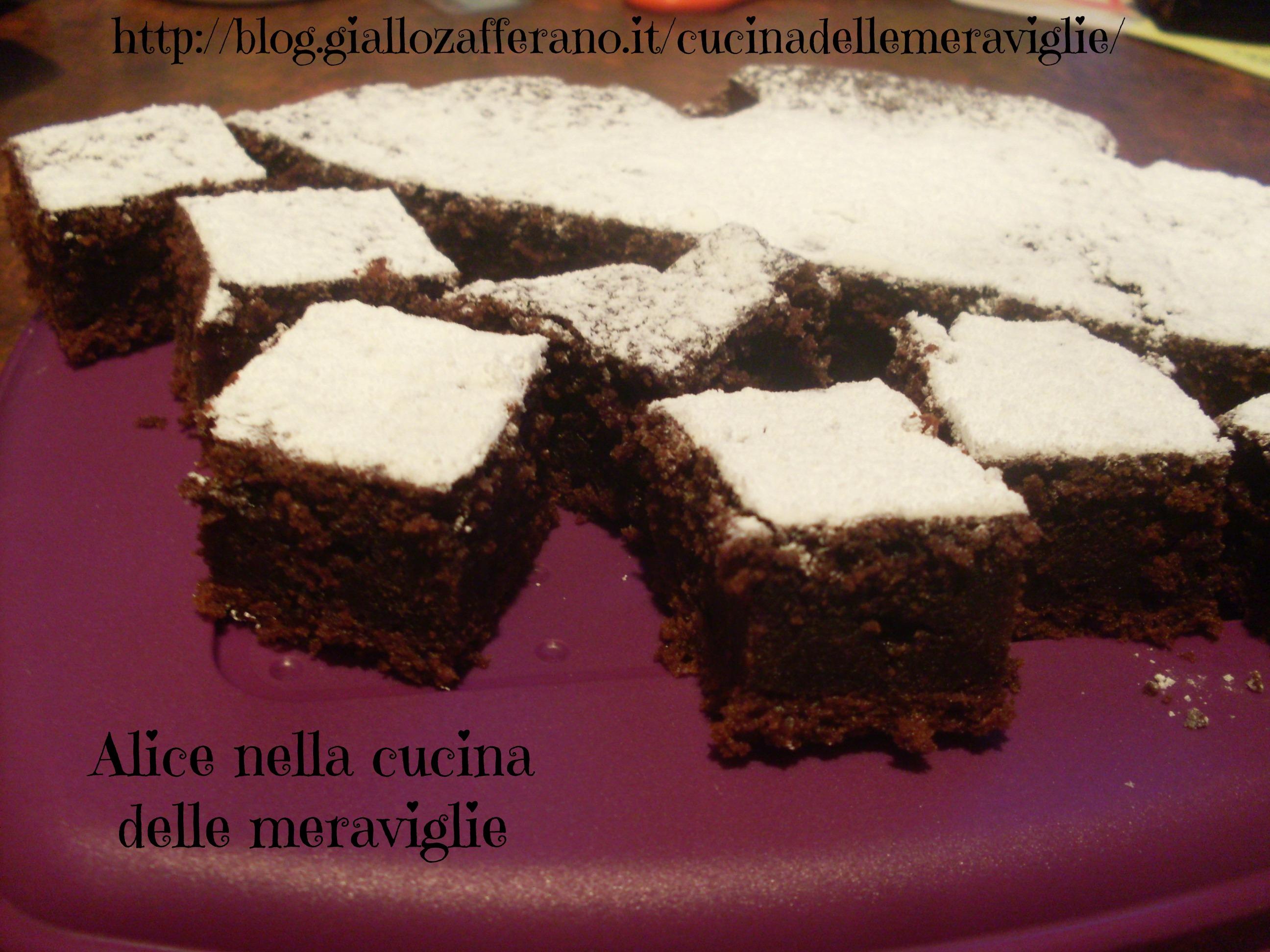 Torta di cacao e yogurt Ricetta dolce Alice nella cucina delle meraviglie