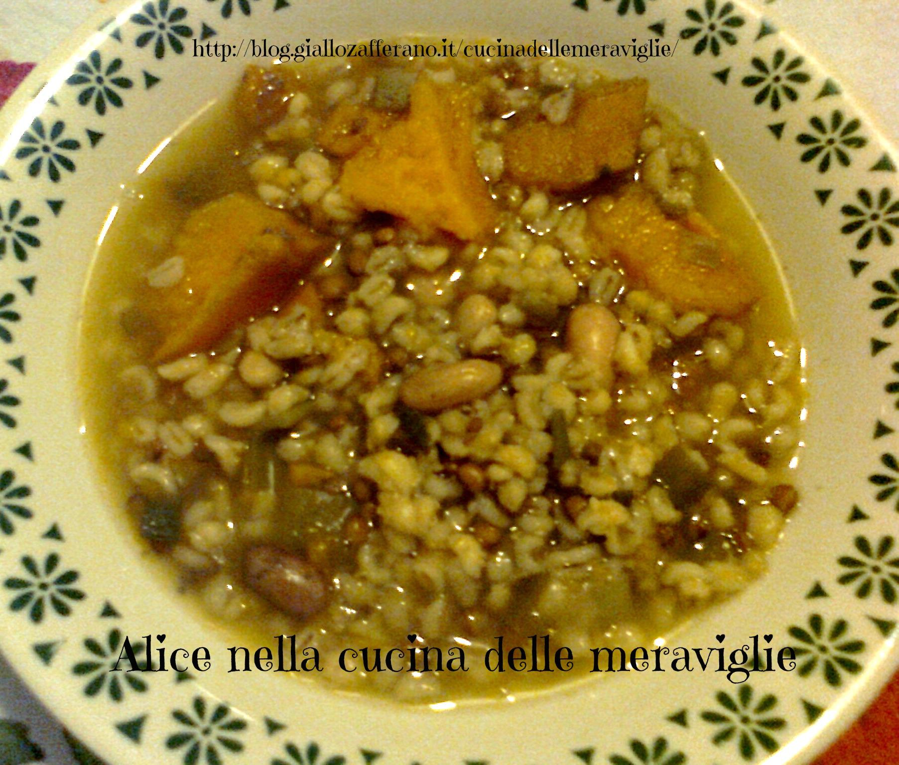 Zuppa di verdure e legumi ricetta semplice Alice nella cucina delle meraviglie