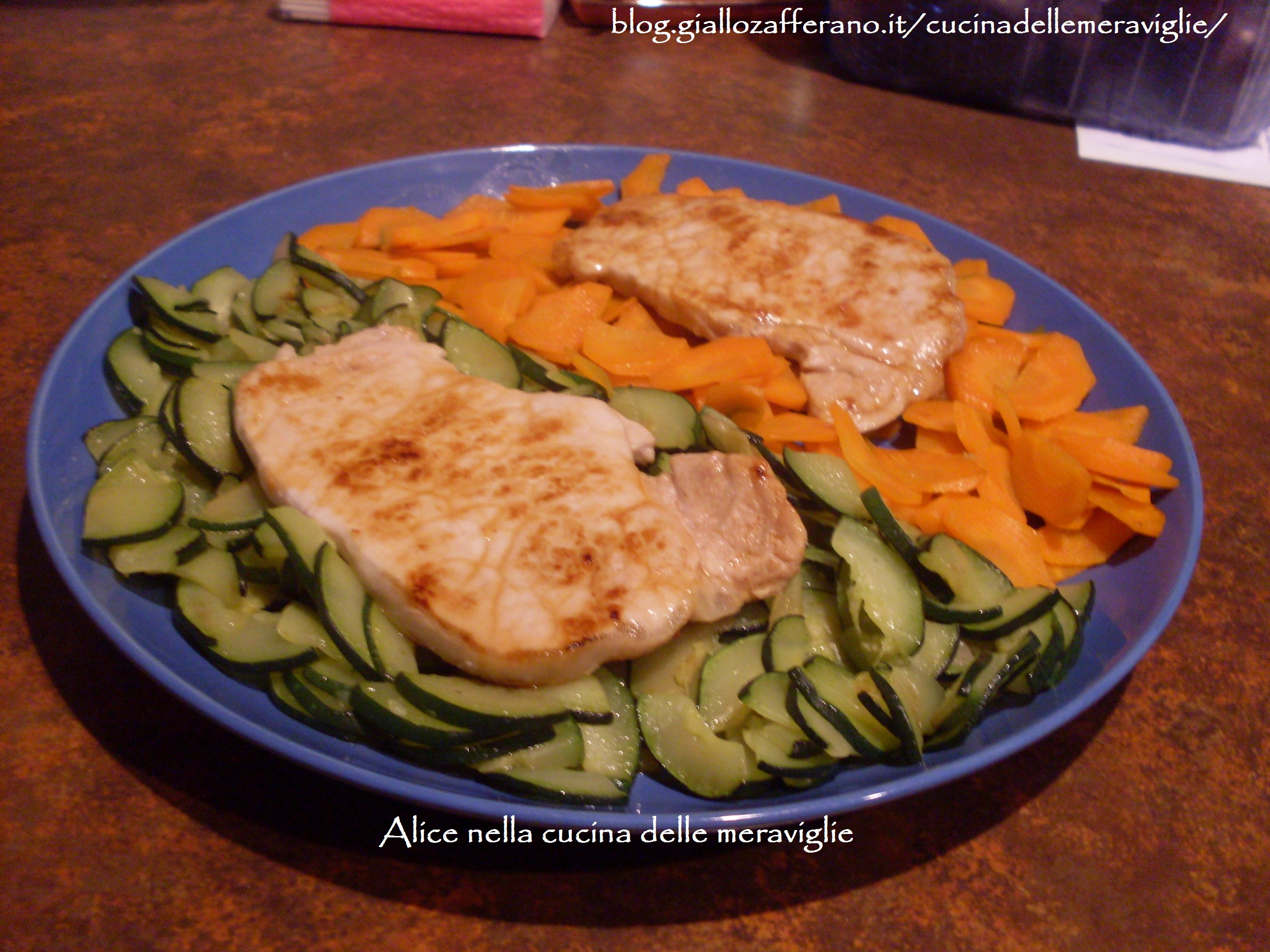 Bistecchine con verdure bicolori Ricetta leggera Alice nella cucina delle meraviglie