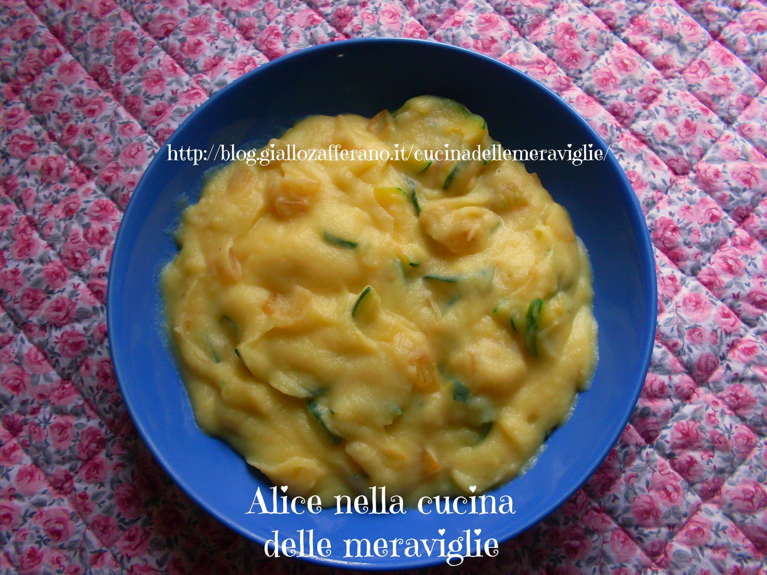 Purè di patate con zucchine e cipolle ricetta semplice Alice nella cucina delle meraviglie