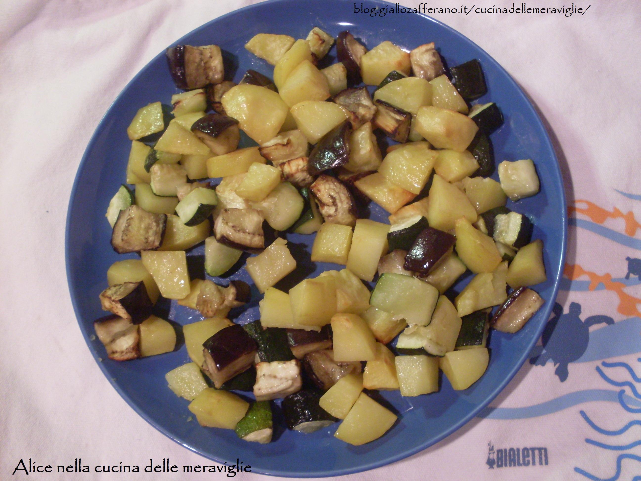 Verdure al forno ricetta vegetariana Alice nella cucina delle meraviglie