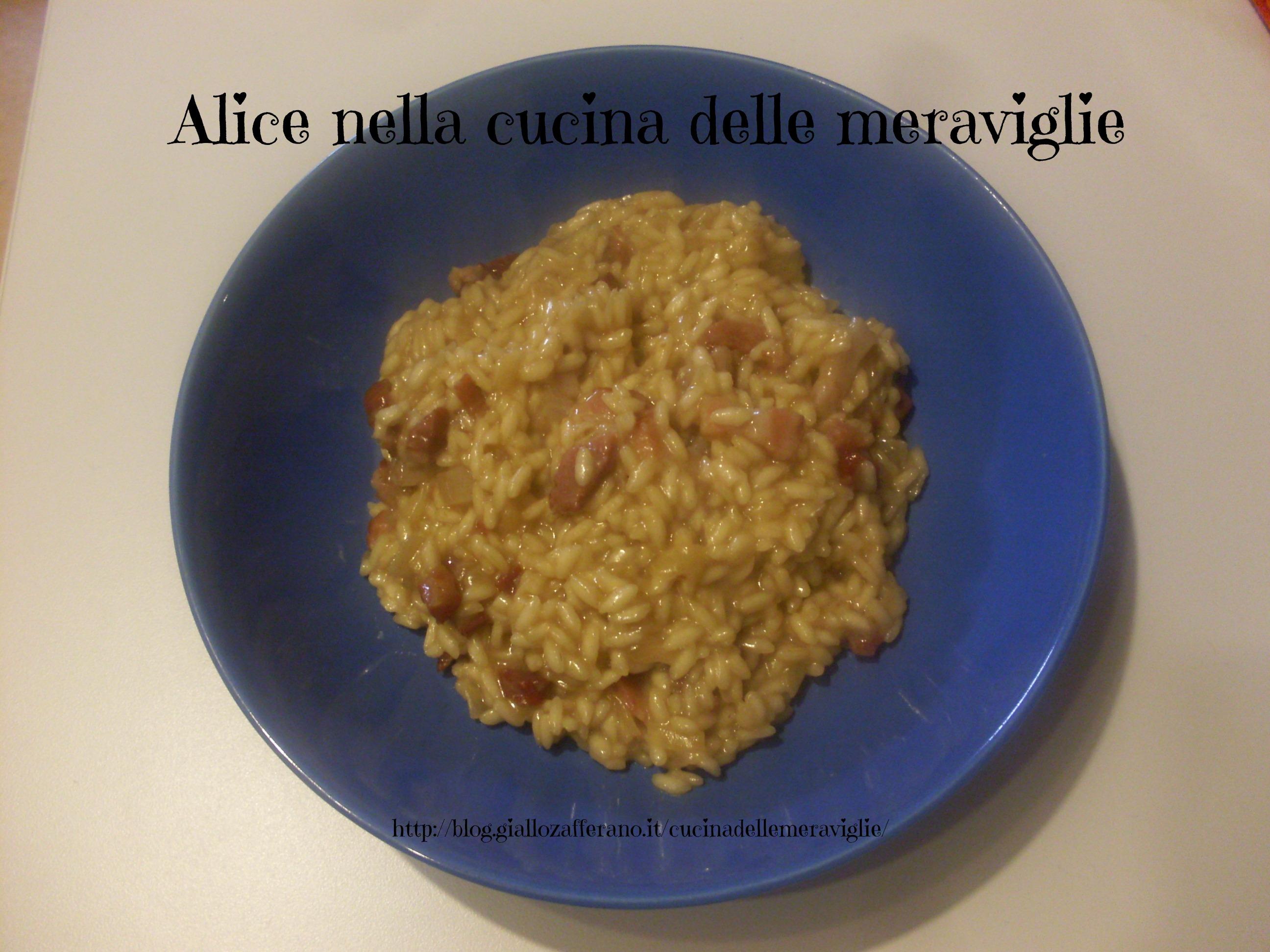 Risotto birra e pancetta Ricetta primo piatto Alice nella cucina delle meraviglie