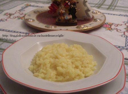 Risotto con brodo di cappone, ricetta primo piatto light