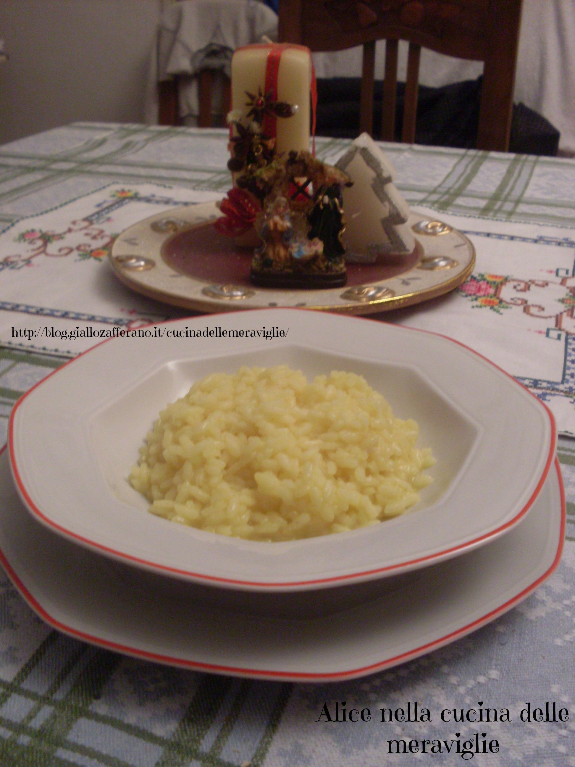 Risotto con brodo di cappone Ricetta primo piatto light Alice nella cucina delle meraviglie