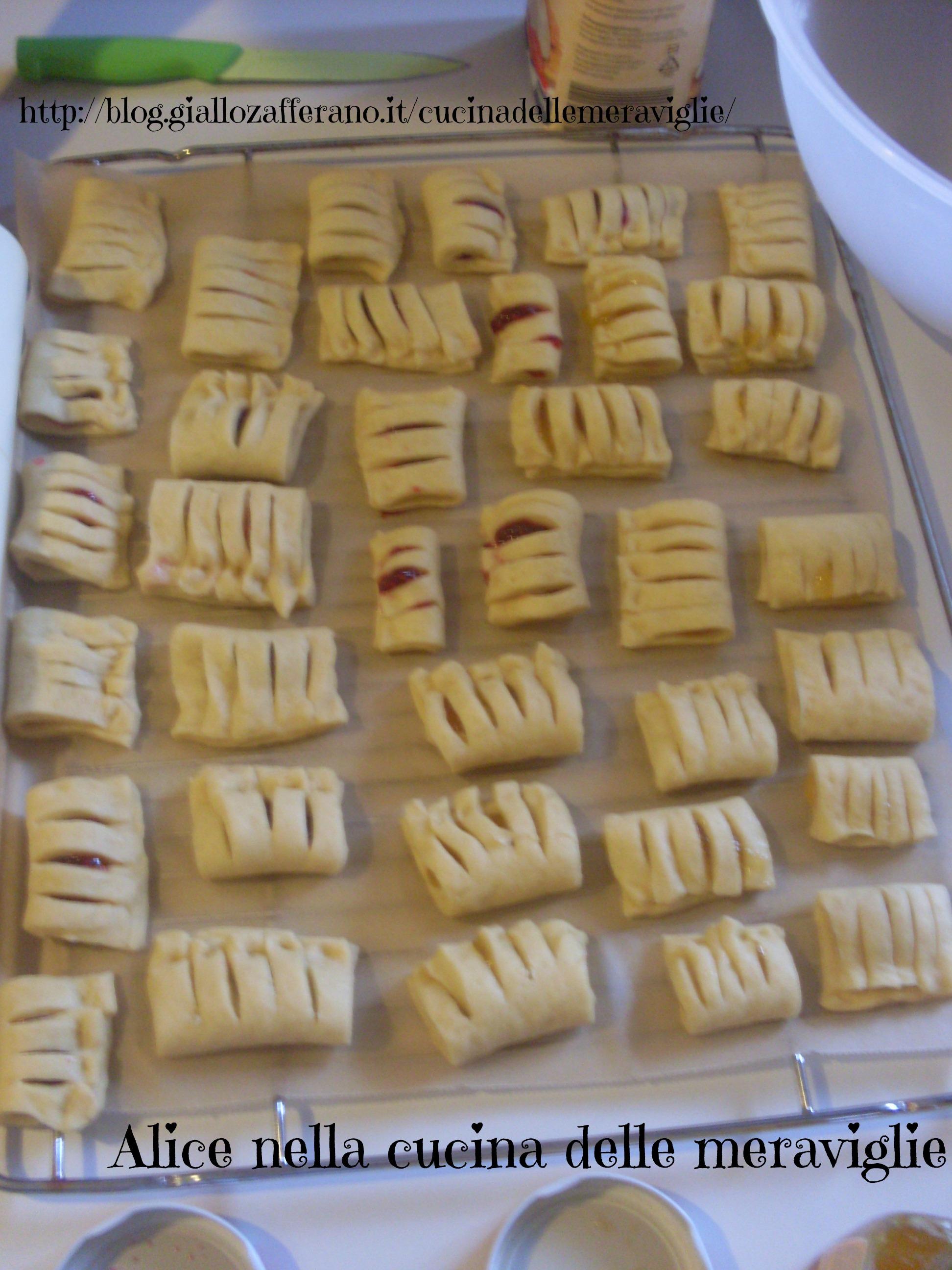 Saccottini alla marmellata Ricetta dolce Alice nella cucina delle meraviglie