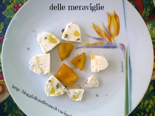 Fiore di mozzarella di bufala e peperone, ricetta antipasto vegetariano