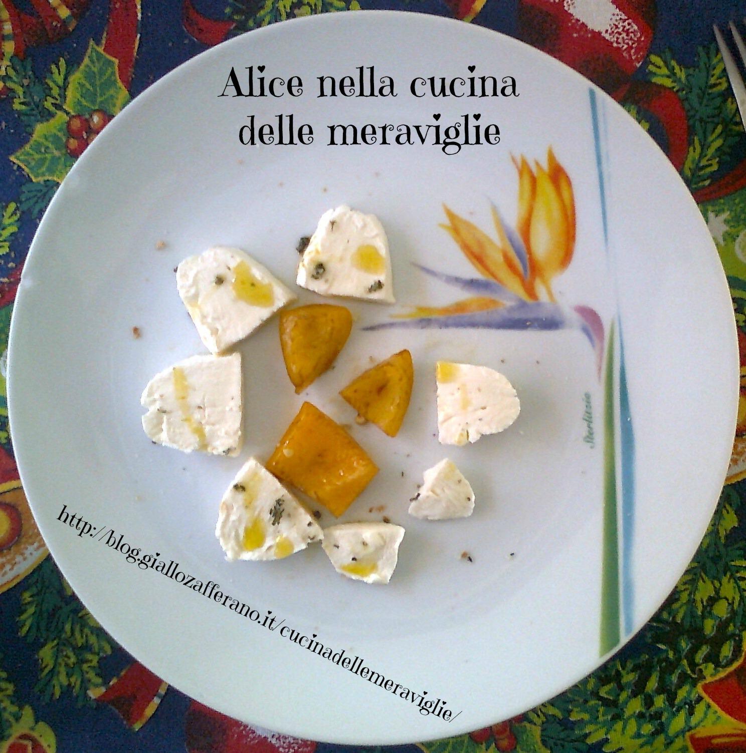 Fiore di mozzarella di bufala e peperone Ricetta antipasto Alice nella cucina delle meraviglie