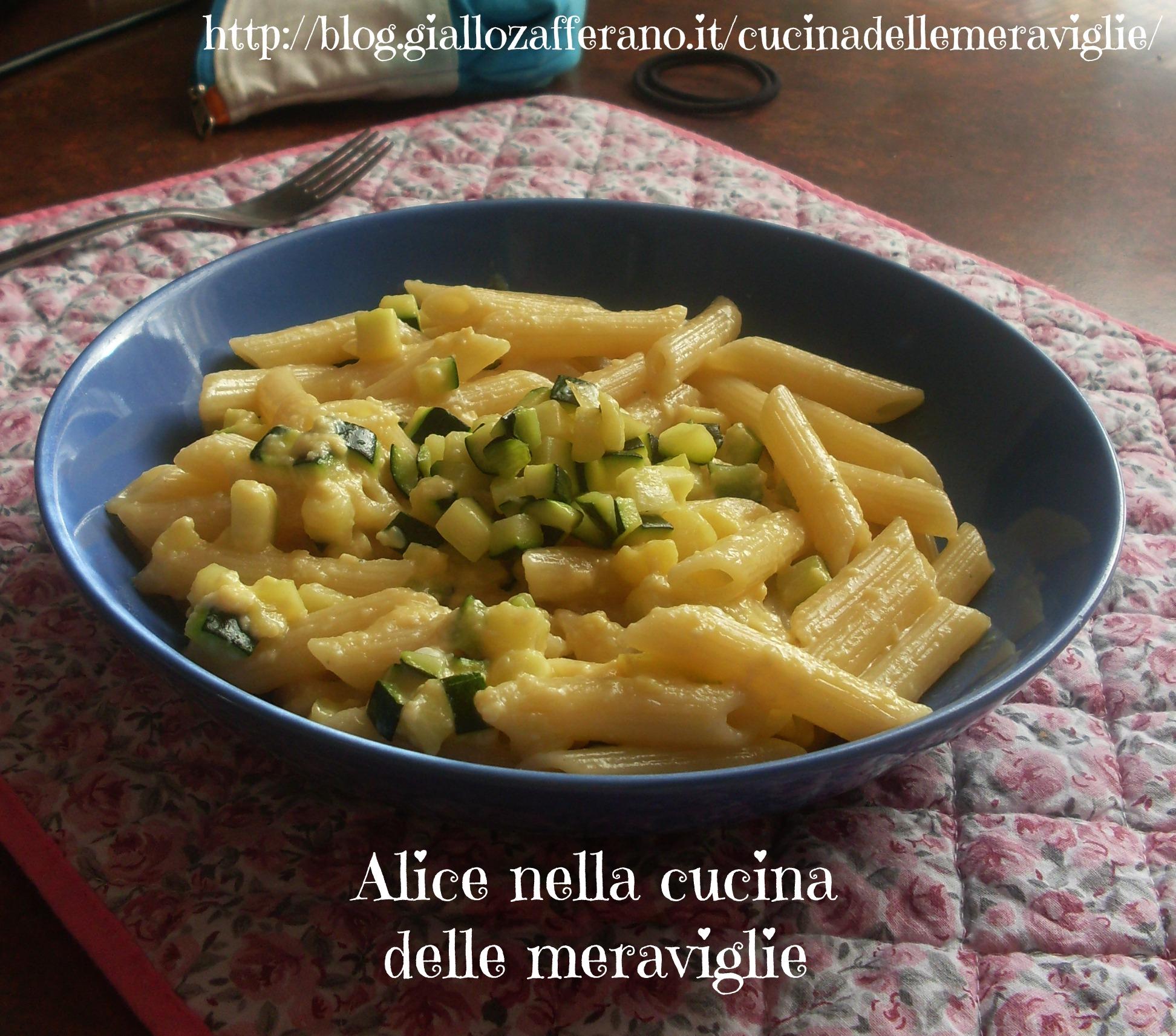 Pasta alla carbonara di zucchine Ricetta primo piatto vegetariano Alice nella cucina delle meraviglie