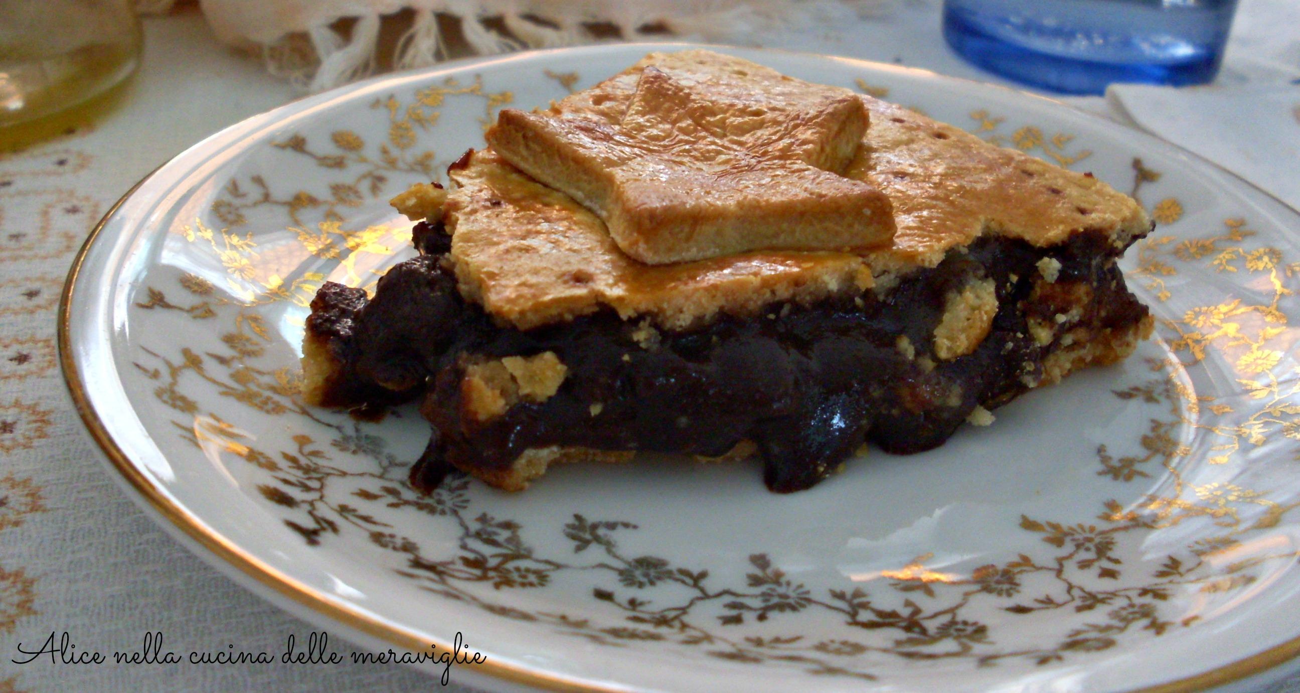 Pie di pere amaretti e cacao Ricetta dolce Alice nella cucina delle meraviglie