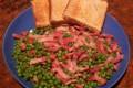 Piselli e pancetta, ricetta secondo
