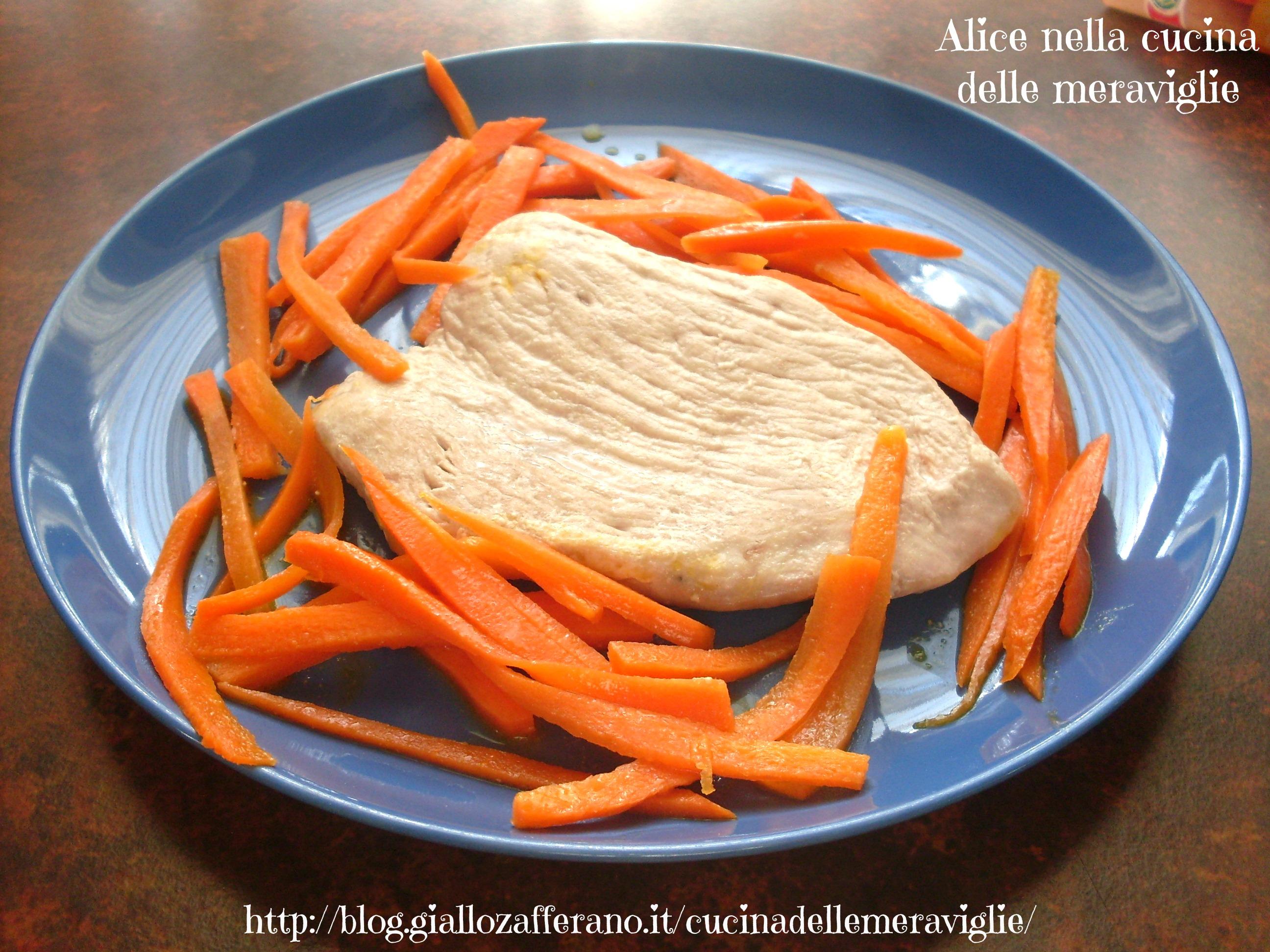 Tacchino e carote al burro Ricetta secondo Alice nella cucina delle meraviglie