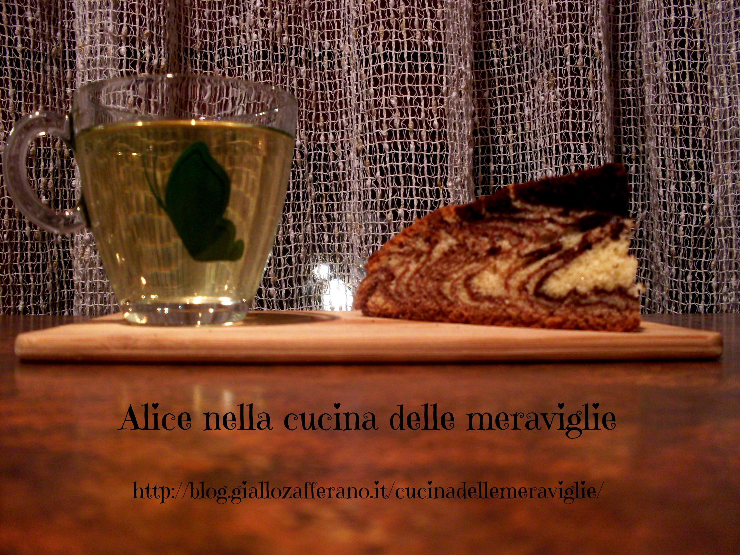 Torta zebra Ricetta dolce Alice nella cucina delle meraviglie