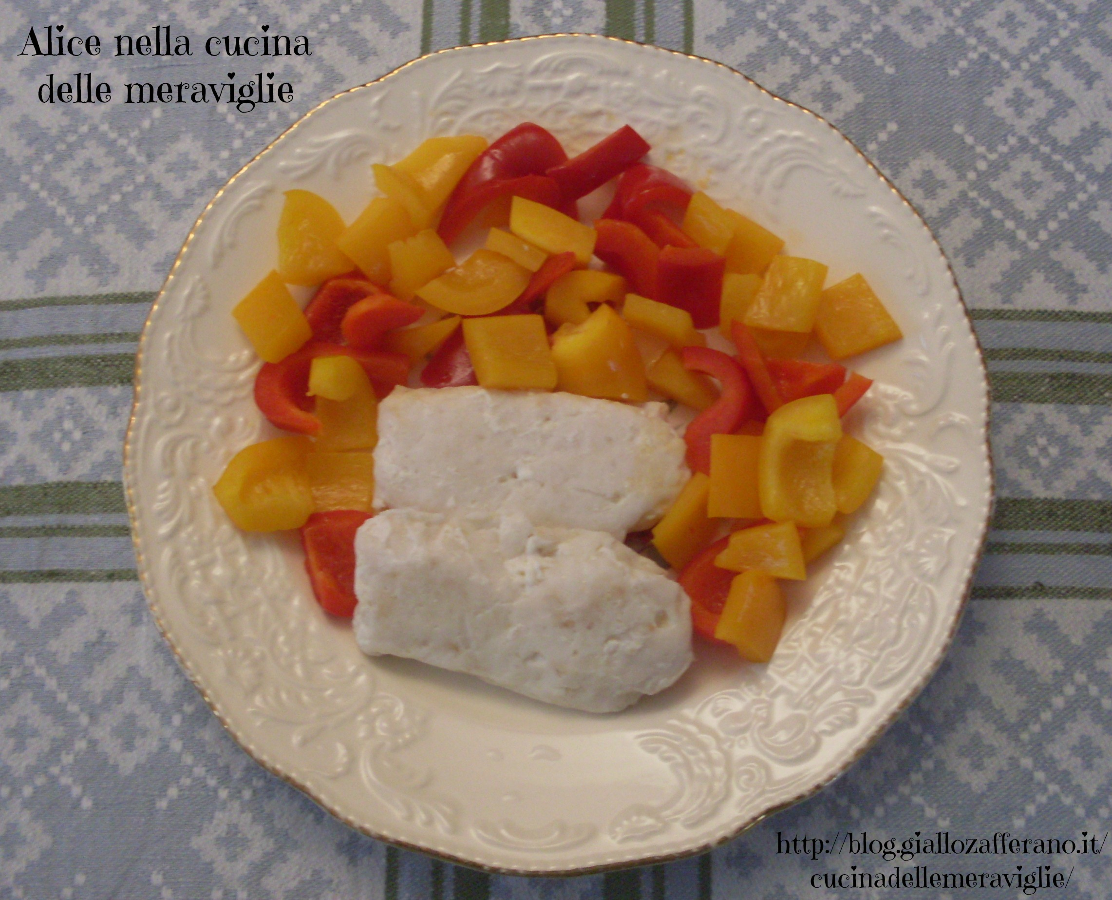 Cuori di nasello con peperoni Ricetta secondo piatto di pesce Alice nella cucina delle meraviglie