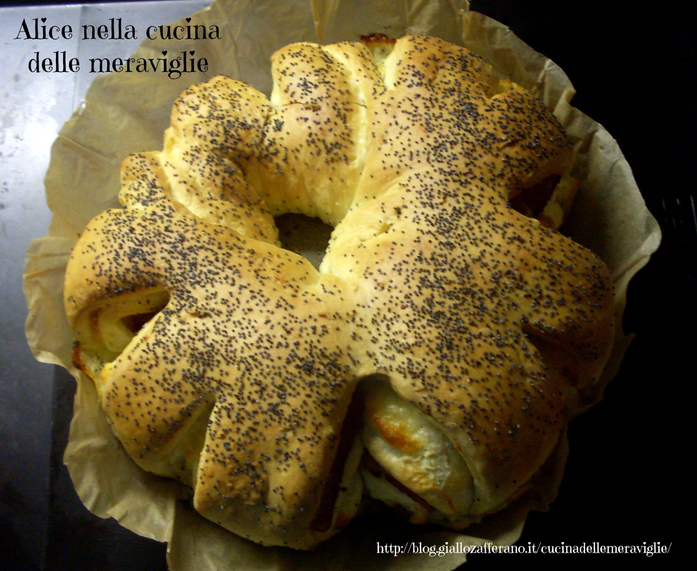 Pan brioche farcito Ricetta lievitato salato Alice nella cucina delle meraviglie