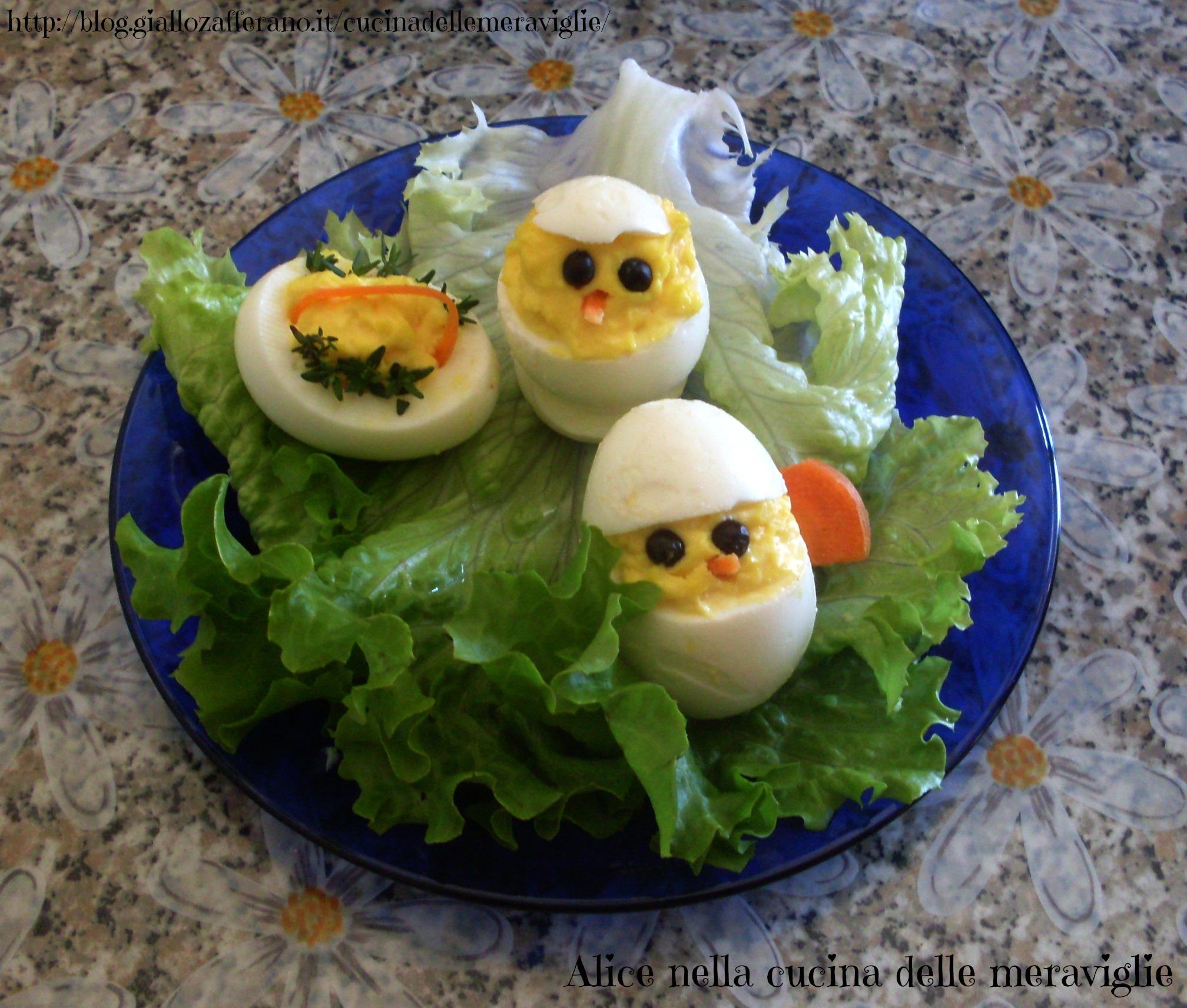 Pulcino di Pasqua Ricetta antipasto Alice nella cucina delle meraviglie