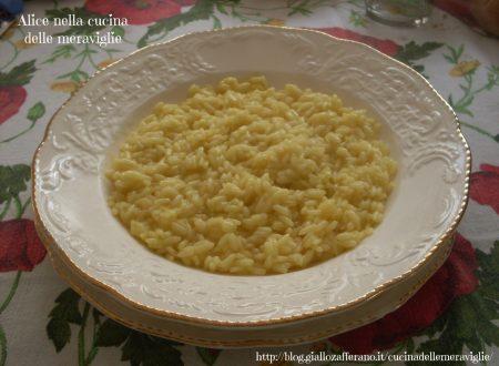 Risotto allo zafferano, ricetta primo piatto light