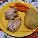 Bollito di pollo Ricetta secondo piatto di carne con cottura in pentola a pressione Alice nella cucina delle meraviglie