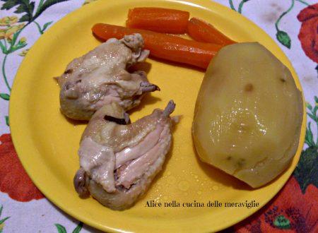 Bollito di pollo, ricetta secondo piatto di carne