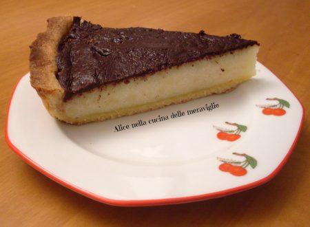 Crostata di semolino e cioccolato, ricetta dolce