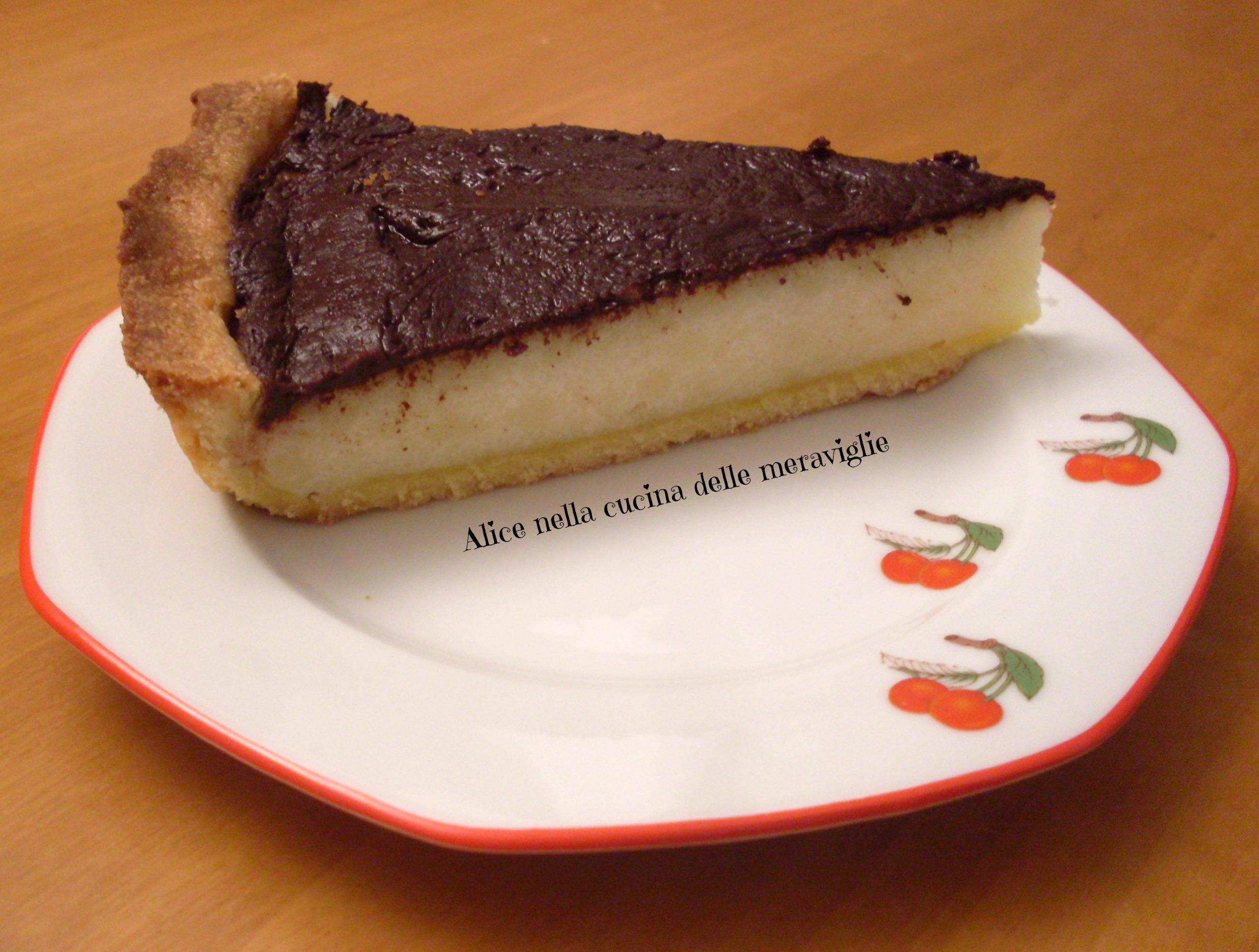 Crostata di semolino e cioccolato Ricetta dolce Alice nella cucina delle meraviglie