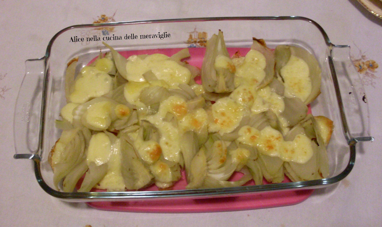 Finocchi al forno con formaggio Ricetta contorno vegetariano Alice nella cucina delle meraviglie