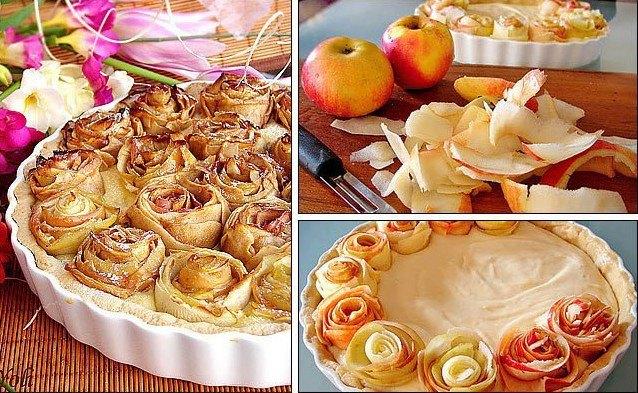 Crostata alle roselline di mele Ricetta dolce Alice nella cucina delle meraviglie