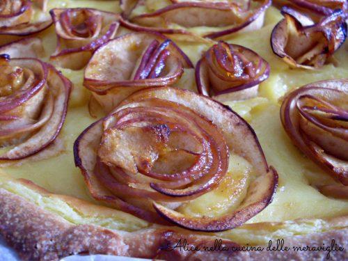 Crostata alle roselline di mele, ricetta dolce