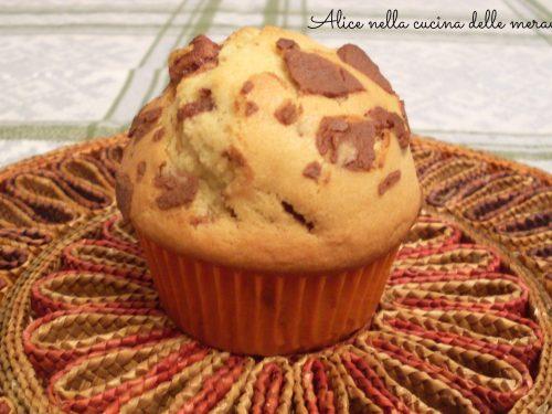 Muffin con gocce di cioccolato, ricetta dolce