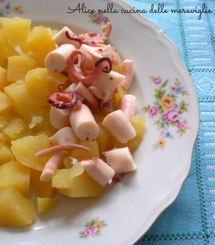 Polpo e patate Ricetta secondo piatto di mare Alice nella cucina delle meraviglie