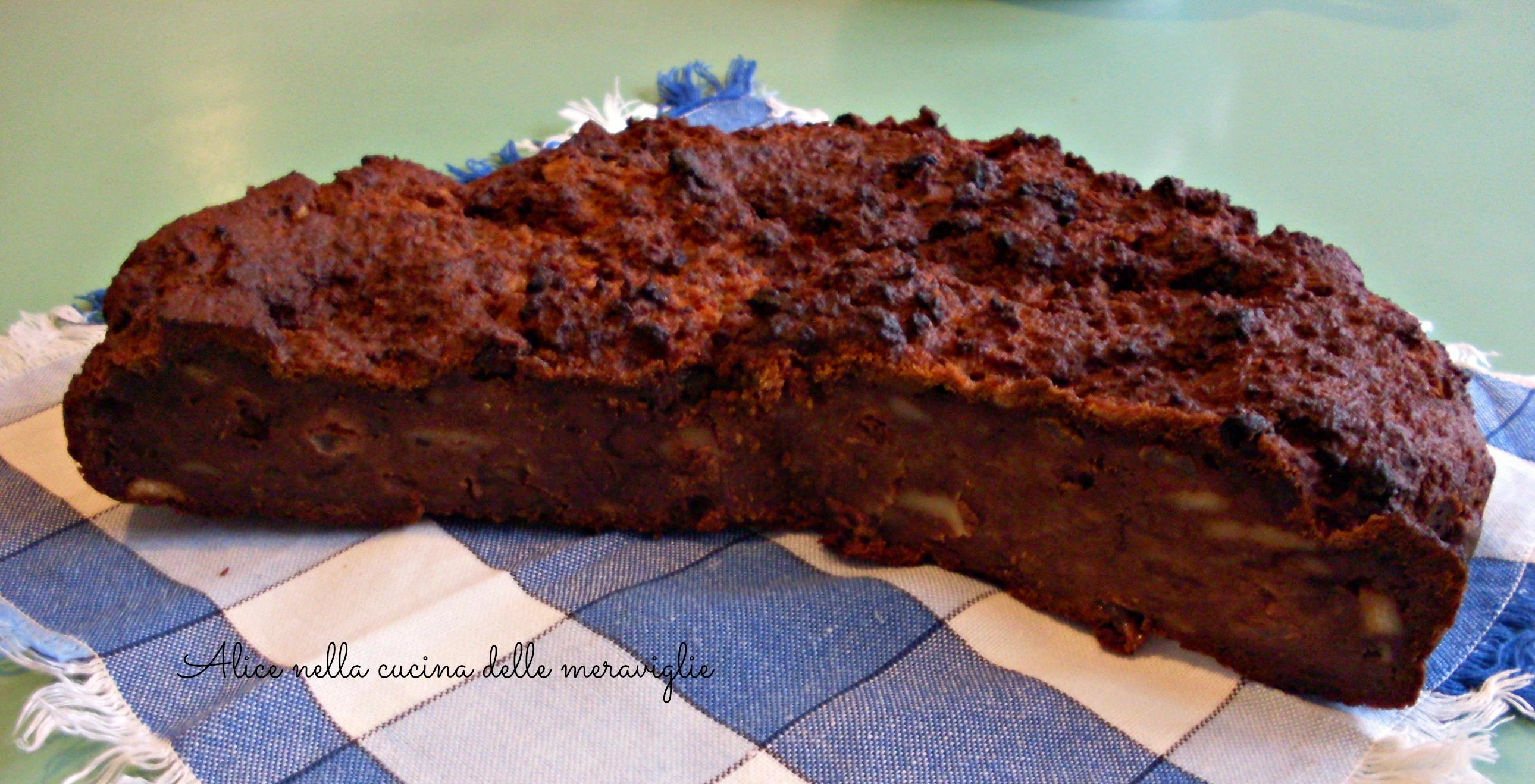 Torta del pane Ricetta dolce Alice nella cucina delle meraviglie